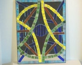 Stained Glass Mosaic Mirror Wall Decor Wall Hanging