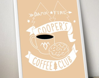 coopers coffee club poster