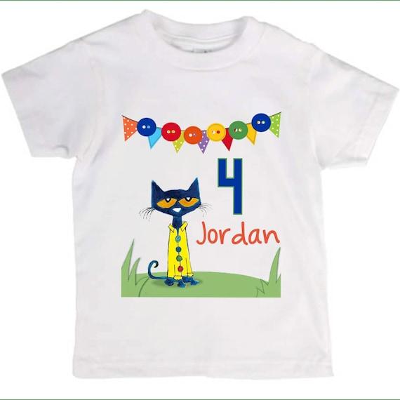 Pete The Cat Birthday Shirt