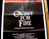 "Quest For Fire Original  Movie Poster 1981  ONE SHEET 27"" X 41"" Rae Dawn Chong"