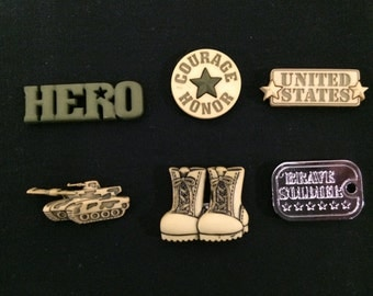 US Army Magnets / Set of Six Military Magnets / Hero Magnets