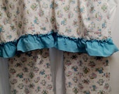 Vintage 1950s Cute Novelty Print Kitchen Cafe Curtain Valance Set