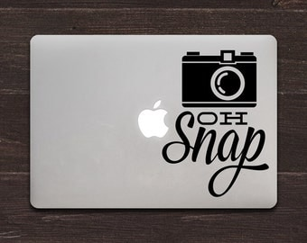 Oh Snap Photography Quote Vinyl MacBook Decal BAS-0210