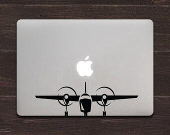 Airplane Vinyl MacBook Decal BAS-0282