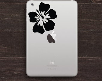 Hibiscus Vinyl iPad Decal BAS-0286