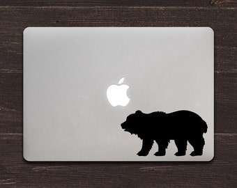 Bear Vinyl MacBook Decal BAS-0292