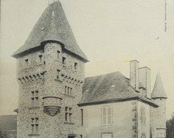 Antique French Postcard - Château du Montjoly, Saint-Martin-Valmeroux, Cantal, France