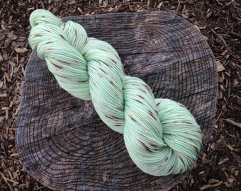 Mint Chip Ice-Cream Full Grown Sock 75/25% Superwash Merino Nylon Blend Hand Dyed Sock Yarn 100gr