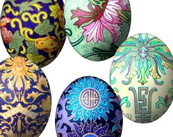 SALE Printable Digital Images, Instant Digital Downloads, 40 X 30 mm, 25 Different Ovals, Cabochons, Eggs, Embellishments, Printable  EGGS 2