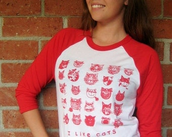 Red Cats Baseball Tee