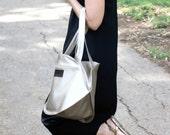 Tote bag, vegan bag, leather tote bag,
