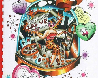 Tattoo Flash Sketch book Viva Las Vegas