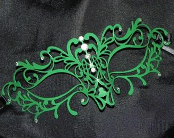 Vine Metallic Filigree Masquerade Mask