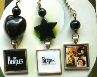 Beatles Fan/ Light Pull, Unique Fan Pull, Handmade by gviolet, The Rock N Roll Collection