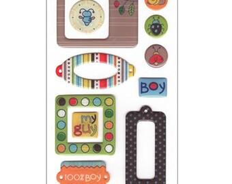 Doodley Doo Boy Epoxy Stickers by SEI