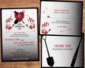 Zombie Wedding Invitation Set - Digital Files