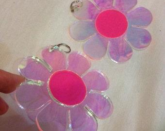 Holographic Flower Power earrings