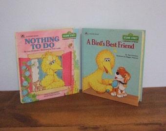 "Vintage Sesame Street Big Bird ""A Growing Up Book"" Set"