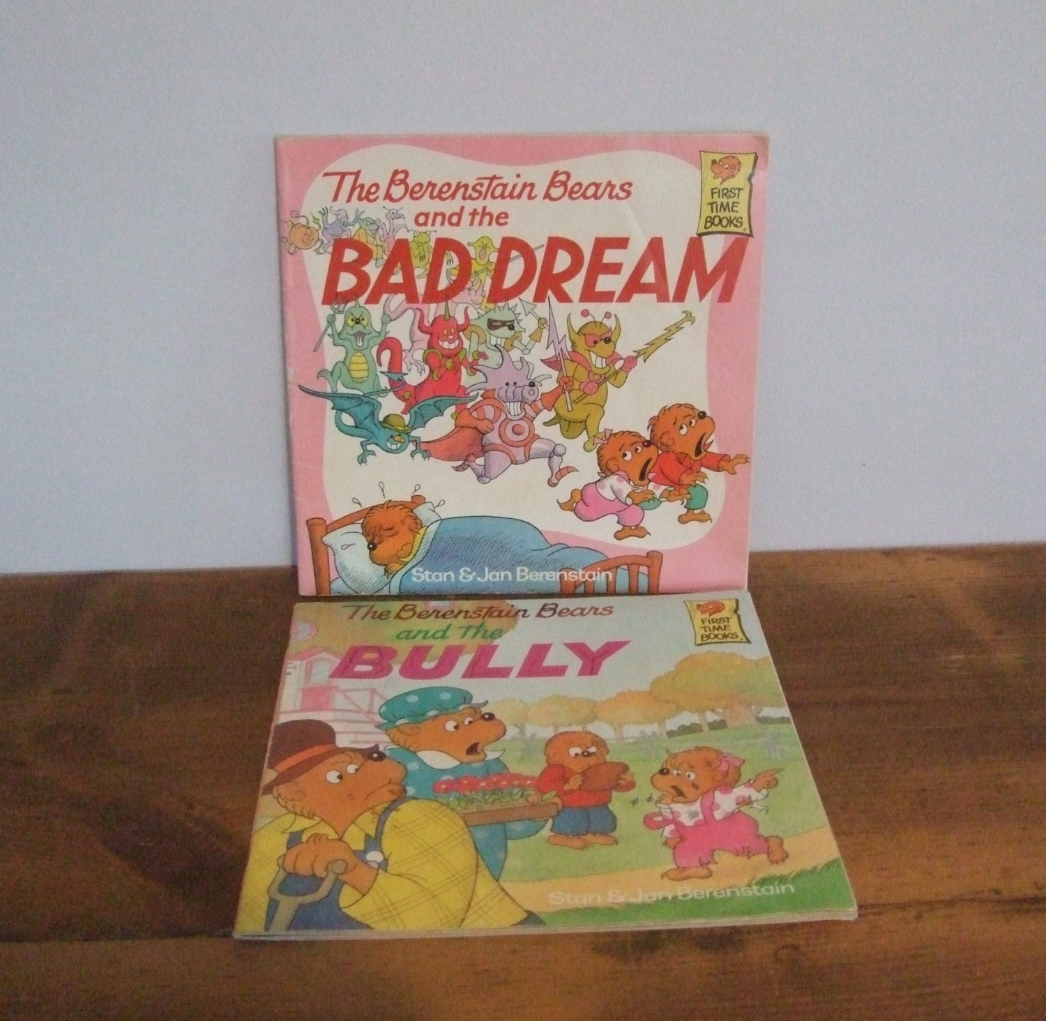 Berenstain Bears Old Book Cover : Vintage berenstain bear book set by jessamyjay on etsy