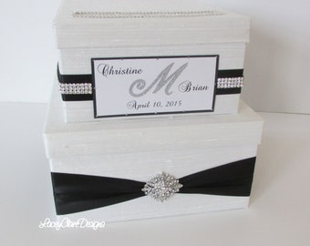 Wedding Card Box, Bling Card Box, Rhinestone Money Card Holder Custom Made