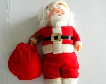 "Vintage Handmade Christmas Santa Claus 14"" Doll as is"