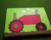 Handmade Tractor Greeting Card set of 8 cards and Envelopes