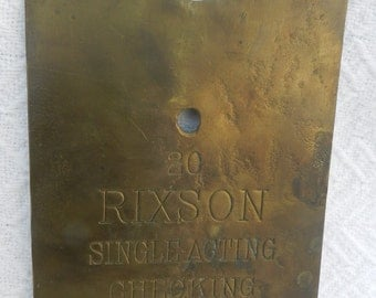 Solid Brass Rixson Door Closer Cover Plate