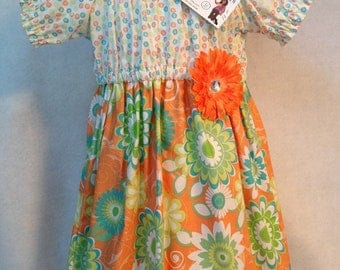 Girl's Peasant Dress - SIZE 3