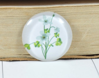 07 Circle Clover flower Leaf Cabochon Handmade Photo Glass Cabochon Image Paperweight Dome Bead 10mm 12mm 14mm 16mm 18mm 20mm 22mm 25mm 30mm