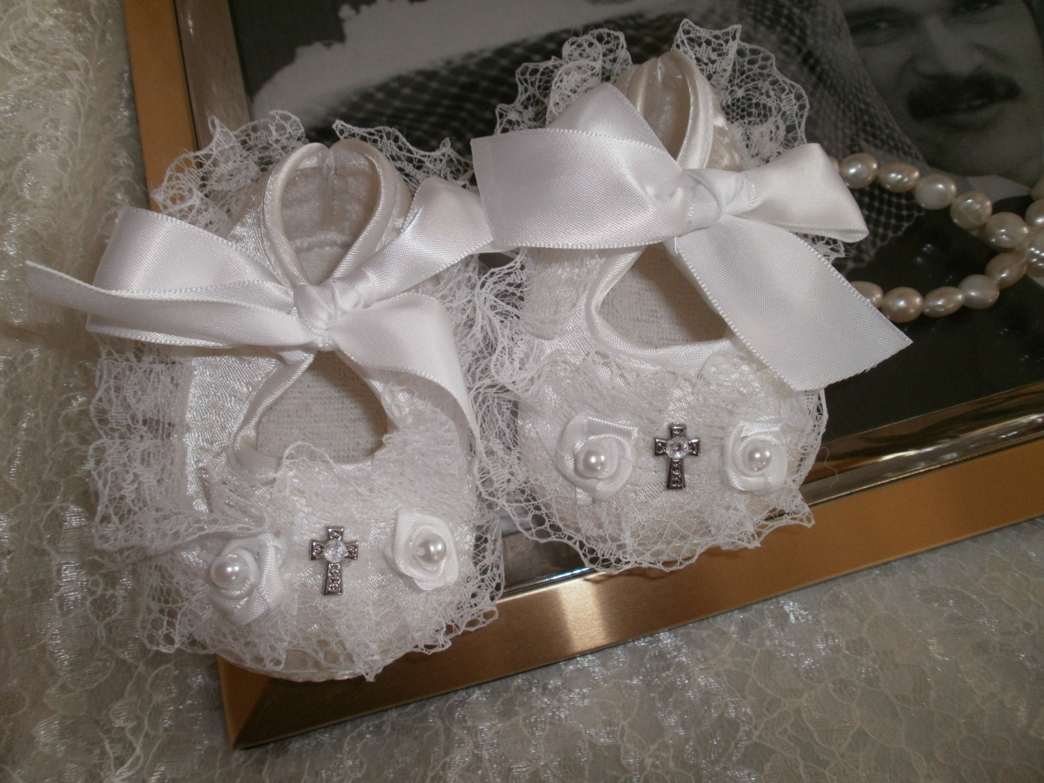 Baby Girl Shoes Christening Blessing Baptism by