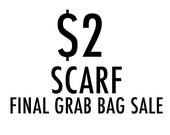 SCARF GRAB BAG, 1 scarf surprise grab bag