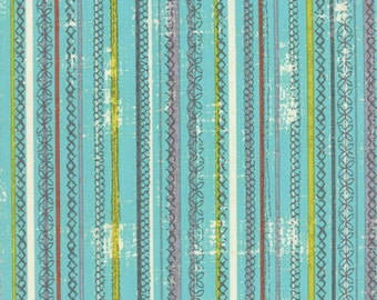 Garden Project - Stitched Stripes in Sky by Tim & Beck for Moda Fabrics