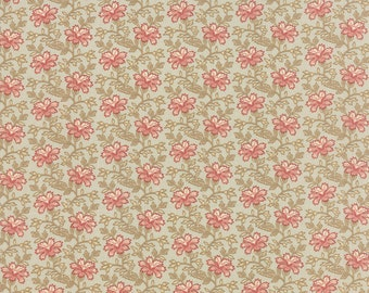 Country Orchard - Trailing Floral in Cream Sky by Blackbird Designs for Moda Fabrics