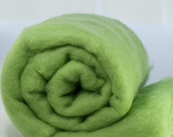 Carded Fiber Batt - Perendale Wool - Leaf - 7 oz