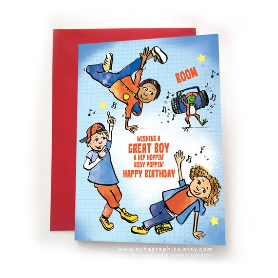 Hip Hop Breakers for a Great Boy Happy Birthday Card for