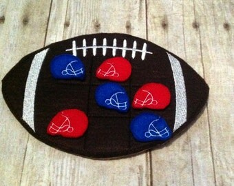 Football Tic Tac Toe Game, Tic Tac Toe Game, Football Game, Kids Game, Game, Handcrafted Game, Birthday Gift, Holiday Gift, Travel Game