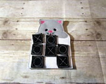 Cat Tic Tac Toe Game, Tic Tac Toe, Kids Game, Handcrafted Game,  Holiday Gift, Travel Game, Easter Basket Gift, Party Favor, Game, RTS