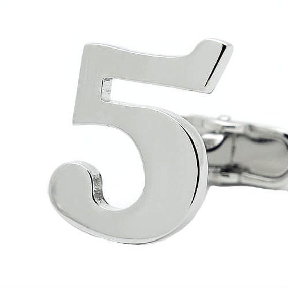 NUMBER 5 CUFFLINKS