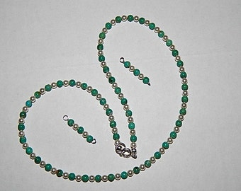 Turquoise and Swarovski Pearl Necklace!!