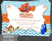 Printable Finding Nemo Birthday Invite - Digital File ONLY