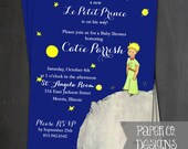 Printable Le Petit Prince - The Little Prince Baby Shower Invite - Digital File ONLY