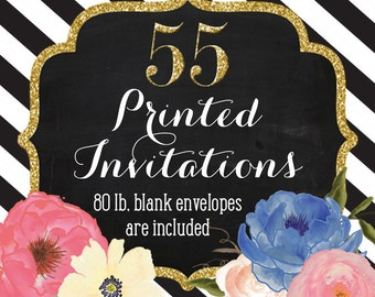 Invitation Printing - Set of 55 - 5x7