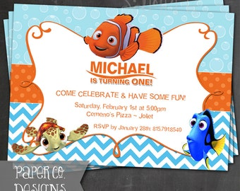 Printable Finding Nemo Birthday Invite - Digital File ONLY