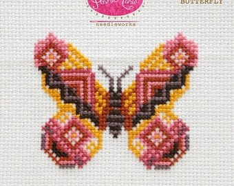 Complete Kit - Anna Maria Horner Needleworks Cross Stitch - Bossa Butterfly