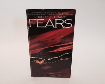 Vintage Horror Book Fears - Charles L. Grant 1986 Paperback Anthology