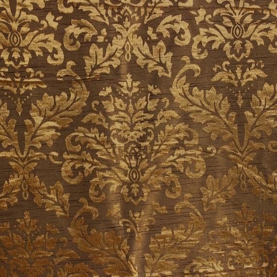 tessuto damascato oro e ulivi tappezzeria tessuto tenda