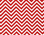Remix Small Red Chevron Cotton from Robert Kaufman