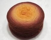 Camel merino yarn lace weight yarn gradient yarn 96g (3.4oz) - Bees against honey