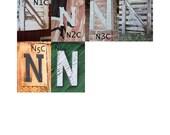 """N, O, P, Q Letter Choices - 3 1/2 x 5"""" Color Letter Art Photograph"""