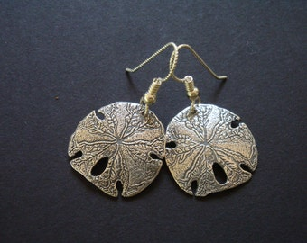 PMC Earrings - Fine Silver Sand Dollars - Seascape Earrings